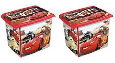 2 x Coffre a jouets boîte Fashion-Box DISNEY CARS 20 L