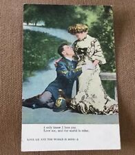 MILITARY OFFICER AND THE LOVE OF HIS LIFE ROMANCE POSTCARD #6 of the SERIES