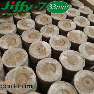 Jiffy 7 Peat Pellets Propagation Plug Seed Cuttings Hydroponic Organic 33 x 43mm
