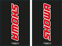 Autocollants Stickers Fourche moto épais SHOWA Noir/rouge (CR,CRF, rm, KXF...)