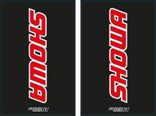 Autocollants Stickers Fourche moto épais SHOWA Noir/rouge (CR,CRF, rm, KXF...)