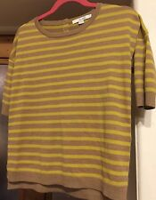 Boden Size 6 Jumper Beige And Yellow New