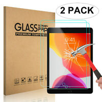 """2x Clear Tempered Glass Screen Protector For New iPad 7th Generation 10.2"""" 2019"""