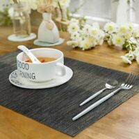 Placemats Set of 6 Woven Table Mats PVC Heat Resistant Washable Quick-drying