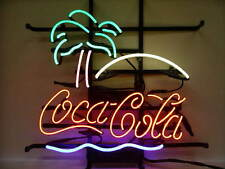 "New Coca Cola Palm Tree Soft Drink Beer Shop Business Neon Sign 17""x14"""