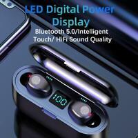 New F9 Wireless Headphones Bluetooth 5.0 Earphone TWS HIFI Mini In-ear Sports