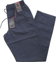 Pantalone uomo taglia M L XL XXL 3XL cotone leggero blu SEA BARRIER SPIAGGIA