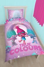 TROLLS GLOW SINGLE COVER DUVET SET & PILLOWCASE PANEL QUILT KIDS BEDDING
