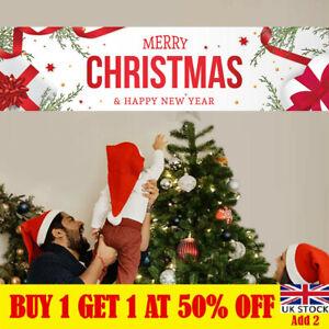 1.8M Merry Christmas Banner Santa Claus Decor Xmas Outdoor Prop Home Decor UK-