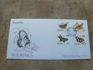 1991 Mauritius FDC / First Day Cover - Butterflies