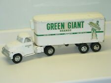 Vintage Tonka Green Giant Semi Truck Trailer Pressed Steel Toy, 1956