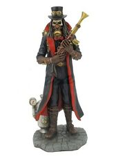 "8.75"" Steam Punk Grim Reaper Statue La Santisima Muerte Santa Skull Holy Death"