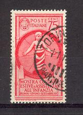 REGNO 1937 COLONIE ESTIVE PO 75 CENT.  USATO SPLENDIDO