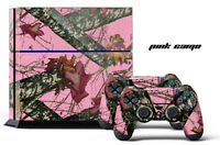 Designer Skin for PS4 Playstation 4 Console System + Controller Skinz PINK CAMO