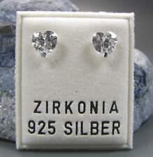 NEU 925 Silber OHRSTECKER Herz ZIRKONIA STEINE kristallklar/crystal OHRRINGE