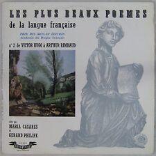Les plus beaux poèmes de la langue française 33 tours Gérard Philipe Casarès N°2