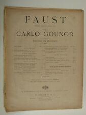 salon piano GOUNOD coro di soldati , circa 1890 , 8 pages