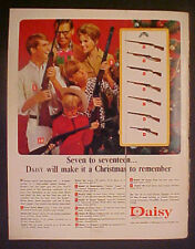 1966 Daisy B-B Gun Pump~Woodstock~Rifles 10 Vintage Models Oddball Toy Trade Ad