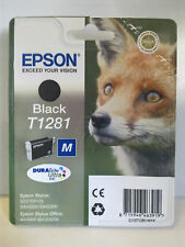 EPSON STYLUS SX130/SX235W ORIGINAL T1281 FOX BLACK INK CARTRIDGE