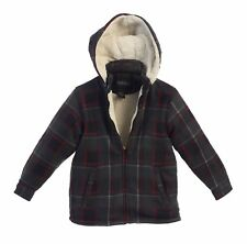 Boys s Toddler Jacket Coat Winter Warm Flannel Sherpa Lined Zip Up Hoodie 2T 3T