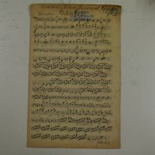 BEETHOVEN CORIOLAN OVERTURE cello part , antique music manuscript