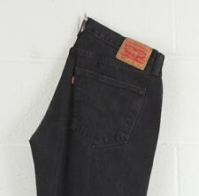 Vintage LEVI'S 501 Regular Straight Fit Men's Black Jeans W36 L38