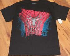 Size L MARVEL COMICS SPIDERMAN BLACK TSHIRT nwt Mens