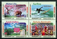 Bangladesh 2018 MNH Tourism Bengali New Year 4v Block Landscapes Surfing Stamps