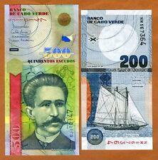 SET Cape Verde, Africa, 200;500 Escudos, 2005-2007, P-68-69, UNC