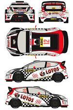 1/43 Decal Ford Fiesta WRC #12 Rally ADAC Deutschland 2013