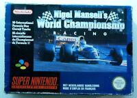 NIGEL MANSELL'S WORLD CHAMPIONSHIP RACING jeu cartouche SUPER NES NINTENDO SNES
