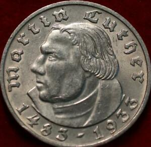 1933 Germany 2 Marks Silver Foreign Coin