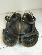 Women's Teva Ysidro Slingback Faded Black Loop Strap Sandals Womens Size 9 EU 40