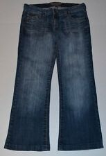 Juniors INDIGO ROYALTY Stretch BOOTCUT Blue Jean Pants size 5 x 27 cropped short