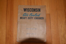 Wisconsin Air Cooled Engine Instruction Book Manual Models Ve4 Vf4 Issue Mm 217a
