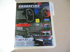 CROSS FIRE MAXIMUM PAINTBALL     ARCADE   GAME  FLYER