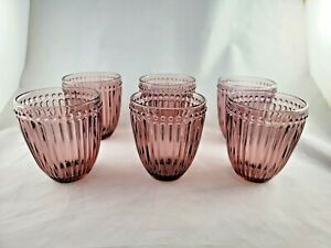 MIKASA Amethyst Double Old Fashioned Italian Countryside Beverage Glasses