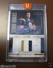 2010 SAM BRADFORD STUDIO ROOKIES AUTOGRAPH PATCH ROOKIE CARD 1/1