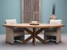 Teak Teakholz Esszimmertisch Tafel Dinnertisch Gartentisch Beek oval 210cmx100cm