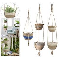 2 Tier Plant Basket Hanging Planter Garden Balcony Decor Ornament Flower Pot