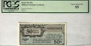 Military Payment Certificate (MPC) 50 Cents Series 461 September 16, 1946 PCGS55