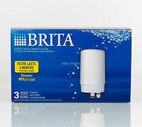 BRITA Tap Water Filter Faucet System Replacement ( 3 Pack )