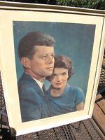 1961 Karsh of Ottawa President John F. Kennedy Jackie Kennedy Framed Photo Print
