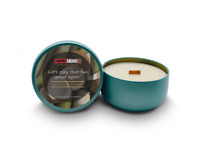 Aroma Coconut Bamboo - Soy Candle with Crackling Wood Wick & Essentials Oils
