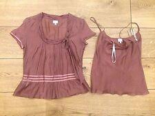 WHISTLES Retro Cotton/silk Tops With Ribbon