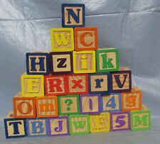 25 Wooden Alphabet Blocks Photo Props Cabin Decor Altered Arts & Crafts used