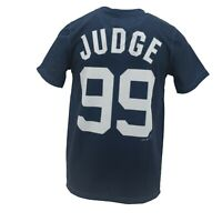 New York Yankees Official MLB Kids Youth Size Aaron Judge Athletic T-Shirt New