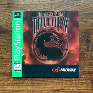 Mortal Kombat Trilogy Combat PS1 Playstation 1 PS One Instruction Manual Only