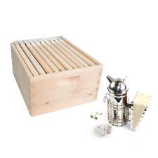 Gl-1Bk-Tk2 Beekeeping Beehive Brood Complete Kit with Frames Foundations, Spacer