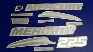 mercury 225* Emblem + FREE FAST delivery DHL express- Raised Decal Stickers Set